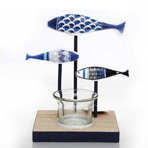 Kerzenhalter 3 Fische  - Mitienda Shop