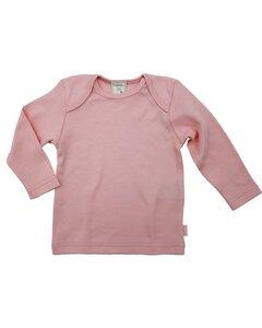 Baby Langarmshirt rosa - Lana naturalwear