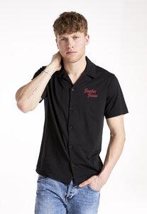 Bowling Shirt Fearless Future Black, 70% Bio-Baumwolle, 30% REFIBRA - PHYNE