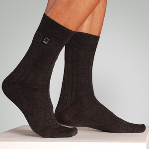 Bio-Business-Socken gerippt, 2er Pack, anthrazit - Dailybread