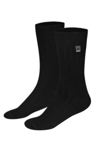 Bio-Business-Socken gerippt, 2er Pack, schwarz - Dailybread
