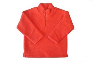 Kinder Fleece-Pullover rot Bio Baumwolle - Engel natur