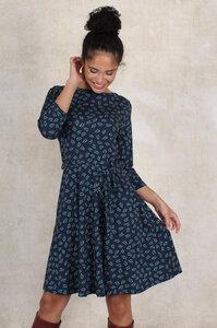 Kleid aus Bambus-Faser und Bio-Baumwolle 'LB-037 Charlene leaves' - Lykka du Nord