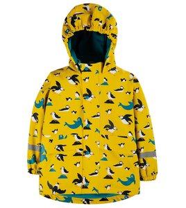 Bunte Kinder Regenjacke aus Post-Consumer-Polyester - Frugi