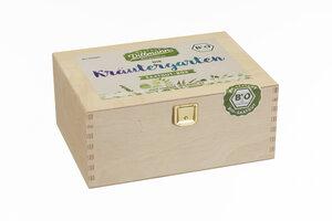 Kräutergarten Saatgut-Holzbox S Bio - Saatgut Dillmann