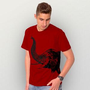 """Elefant"" Herren T-Shirt  - HANDGEDRUCKT"