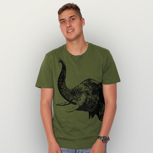 'Elefant' Herren T-Shirt  - HANDGEDRUCKT