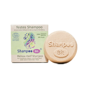 festes Shampoo Melisse-Hanf  |  in Schachtel - 55g - Rosenrot Naturkosmetik