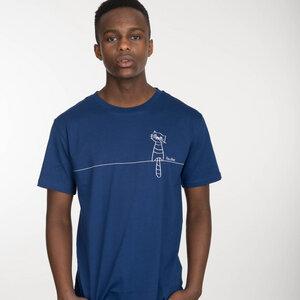 FellHerz still waiting T-Shirt white/blueprint - FellHerz