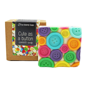 "Konfettiseife ""Cute as a button"" - Eve Butterfly Soaps"