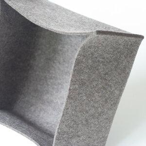 tuchmacherin handgewebtes design filz filzkorb graubraun meliert 3 mm 14x22x22 von. Black Bedroom Furniture Sets. Home Design Ideas