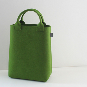 Filztasche Shopper oliv-grün aus Filz 'Emma' - tuchmacherin - handgewebtes design + filz