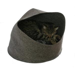 Katzenhöhle Katzenkorb Katzenbett aus Filz von tuchmacherin - tuchmacherin - handgewebtes design + filz