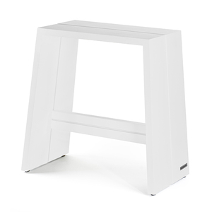 Design Holz-Hocker aus massivem Buchenholz, weiß lackiert - NATUREHOME