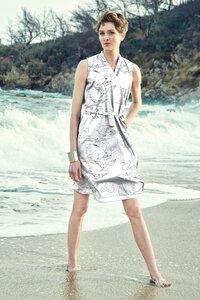 Wickelkleid Helen Dove - Wickelkleid Damenkleid aus Bio-Baumwolle - Sophia Schneider-Esleben