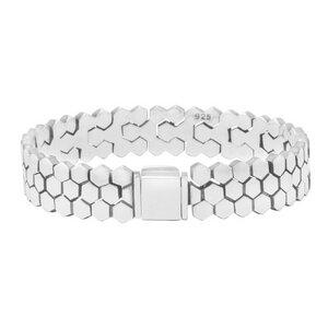 Armband Silber Sechseck fein glänzend elegant sustainable Fair-Trade - pakilia