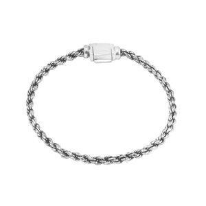 Armband Silber Seil Minimalistisch fein handmade sustainable Fair-Trade - pakilia