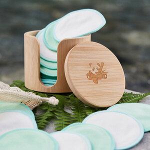 18 Abschminkpads waschbar aus Bio-Baumwolle mit Bambus Box - pandoo