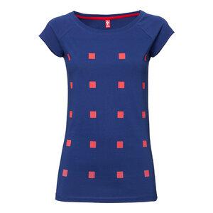 ThokkThokk Cube Cap Sleeve Woman T-Shirt red/blueprint - THOKKTHOKK