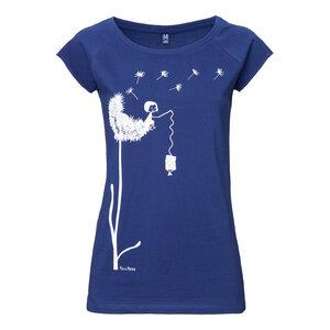 FellHerz Pusteblume Cap Sleeve T-Shirt Women white/blueprint - FellHerz
