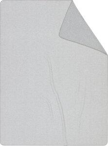 """Wohn- und Kuscheldecke aus Recycling-Garn """"Close Up"""" grey oder blue - biederlack"""
