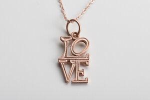Vintage Unikat: Kette LOVE     - MishMish by WearPositive