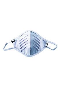 Kinder Mund-Nasen-Maske aus recyceltem Polyester POWDO Commander silber - WeeDo