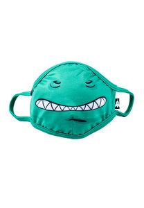 Kinder Mund-Nasen-Maske aus recyceltem Polyester MONDO Monster grün - WeeDo