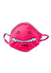 Kinder Mund-Nasen-Maske aus recyceltem Polyester LILIDO Monster pink - WeeDo