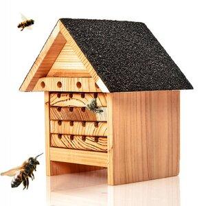 Bienenhotel aus Naturholz - Nisthilfe & Unterschlupf für Wildbienen - Skojig