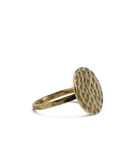 Ring gehämmert, Messing oder Sterling Silber - ting goods