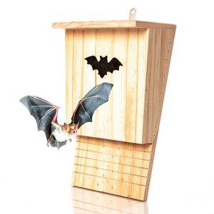 Fledermauskasten aus Naturholz - Fledermaushöhle | Fledermaushaus für den Garten - Skojig