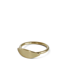 Ring Leaf, aus Messing oder Sterling Silber - ting goods