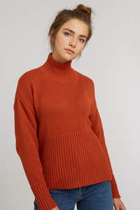 Damen Rollkragen Pullover Bio Fair - ThokkThokk