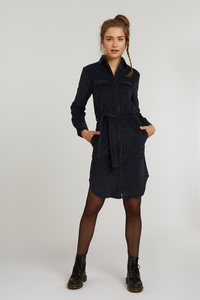 Damen Cord Shirt Dress Bio Fair - ThokkThokk