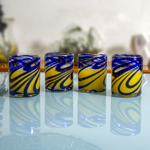 Gläser 4er Set blaue Welle - Mitienda Shop