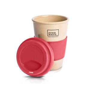 Avoidwaste Kaffeebecher to go aus Reishülsen, 400ml (5 Farben) - Avoidwaste