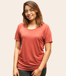 Basic - Fair gehandeltes Rolled Sleeve Frauen T-Shirt - Modal - päfjes