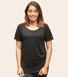 Basic - Fair gehandeltes Rolled Sleeve Frauen T-Shirt - Modal - päfjes