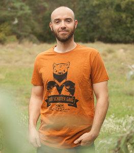 Otter Schotter Gang - Fair gehandeltes Bio Männer T-Shirt - Slub Orange - päfjes