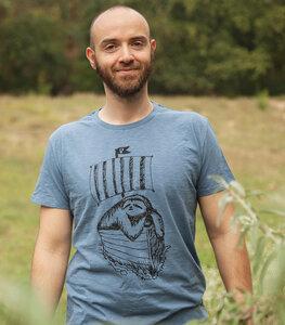 Felix Faultier - Fair gehandeltes Bio Männer T-Shirt - Slub Blue - päfjes