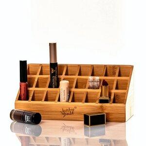 Aufbewahrungsbox für Lippenstifte / Nagellack aus Bambus - Bambuswald