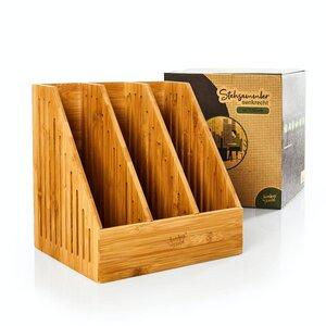 Stehsammler / Dokumentenablage mit 3 Fächer aus Bambus - Bambuswald