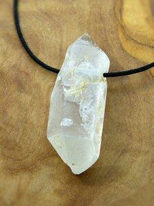 Bergkristall, Edelstein-Anhänger, Kristallspitzen, Pakistan/Himalaya, Natur pur! - OneWorldMinerals
