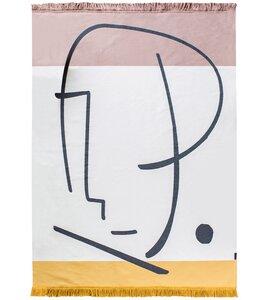 """Teppich Goliath """"Gesicht"""" mit Fransen, aus Recycling-Baumwolle - David Fussenegger"""