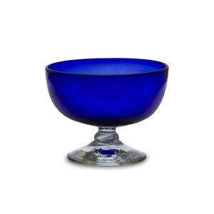 Eisbecher 4er Set aus recycling Glas, blau - Mitienda Shop