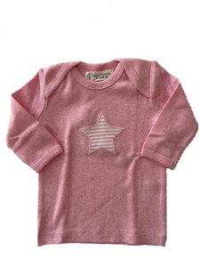 Langarmshirt in Rosa oder Hellblau (GOTS zertifiziert) - sense-organics