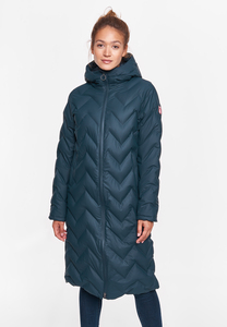 "Damen Wintermantel aus recycled Polyester ""Interlink LONG Girls RC"" - derbe"