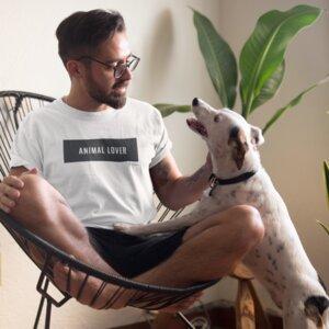 """Unisex T-Shirt aus 100 % Bio-Baumwolle """"Animal Lover"""" - BVeganly"""