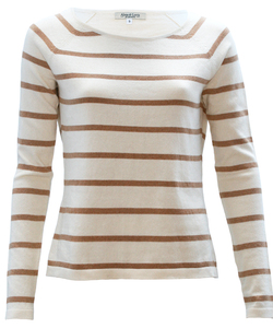 Native Stripe Pullover nature/maron - Alma & Lovis